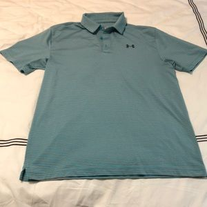 UA striped golf shirt medium